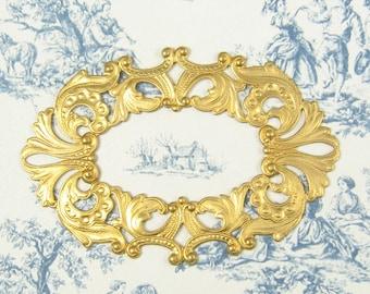 Brass Frame Stamping Unplated Brass 2-144-R