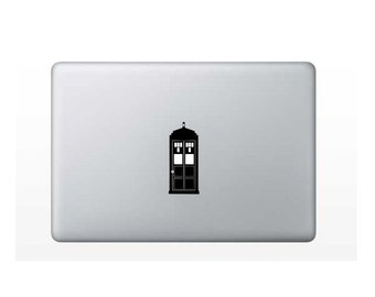 Macbook Dr Who Tardis Decal for the Apple center light!