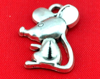 Mickey Mouse charm---15pcs Antique Silver Mickey Mouse Charm Pendants ----18*23mm--G390