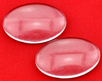 15pcs 18*25mm Oval Clear Glass Cabochon Cover Cabs Charm Findings