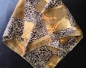 Giraffe Themed Silk Handkerchief