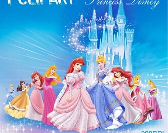 Disney Princess Digital graphic Elements / 9 PNG/JPG/ For Personal and Commercial use/ images/ Instant Download