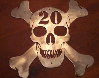 Metal Skull Sign