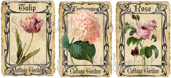 9 gift tags shabby blumen cottage garden von stoeberlustkreativ. Black Bedroom Furniture Sets. Home Design Ideas