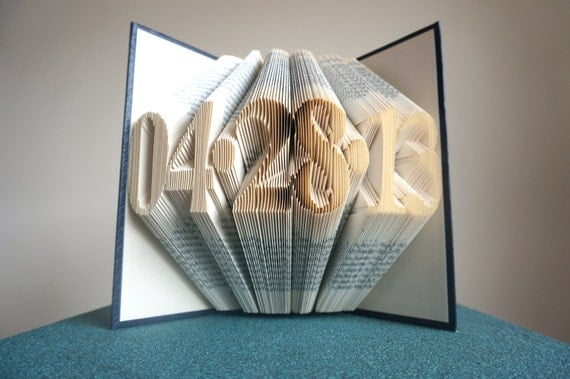 Silver Wedding Anniversary Gifts For Him: Paper Anniversary First Anniversary Gift For Him By BookArt88