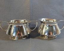 Edwardian Mappin & Webb Silver Sugar Bowl and Milk Jug