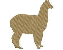 Alpaca Silhouette Machine Embroidery Design 2 Sizes