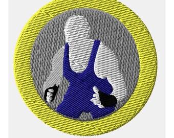 Wrestler Machine Embroidery Design