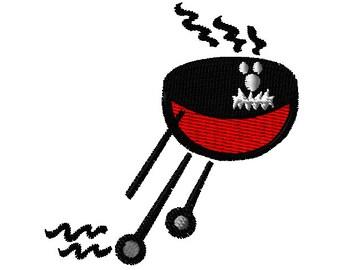 Running BBQ Grill Machine Embroidery Design