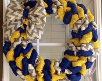 Burlap wreath - Door Wreath - Summer Wreath - Summer Wreath for door - Fall Wreath - Everyday Wreath