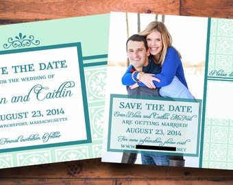Classic Save-the-Date Wedding Postcard