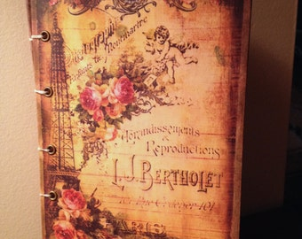 Vintage Parisian Inspired Journal