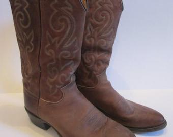 Vintage Western boots - Justin brand -     men's size 9 1/2D
