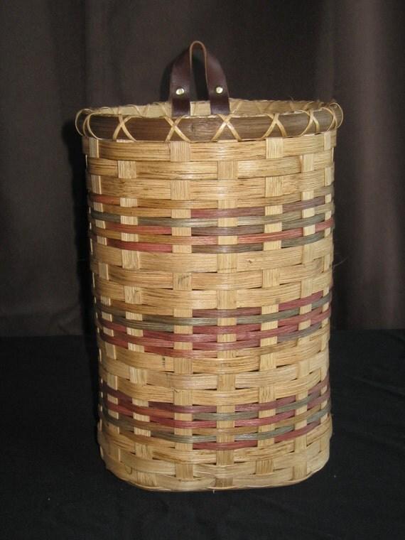 Items similar to Handemade woven basket, plastic bag ...