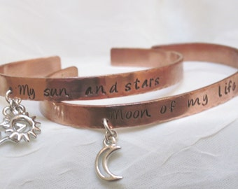 Game of Thrones - My Sun and Stars  Moon of My Life Couple's Bracelet Set Daenerys and Khal Song of Ice and Fire