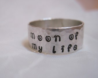 Game of Thrones -Moon of My Life Sterling Silver Hand Stamped Ring