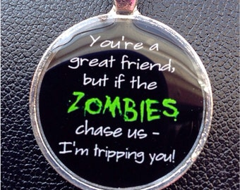 Zombie pendant Zombie necklace Best friend necklace Best friend pendant Zombie Apocalypse necklace Zombie Apocalypse necklace