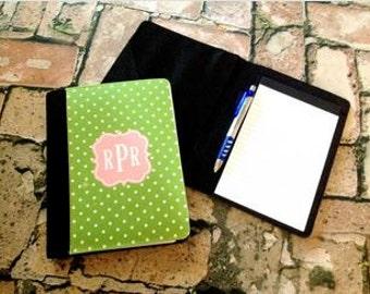 Monogrammed portfolio notebook