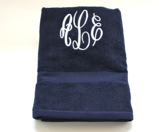 Bath Sheet with Initials