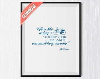 Albert Einstein Quote / Printable Art Print / Typography Decor Instant Download