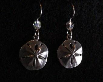 Sand Dollar Dangle Earrings - Sterling Silver