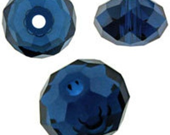 Swarovski 5040 8mm - Dark Indigo - Pack 3