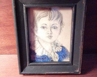 portrait miniature of young boy