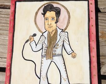 Retablo of Elvis Presley