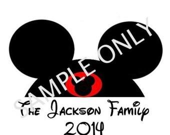 Disney Family Trip DIY Iron On Transfer Print Digital File