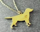 Free shipping  - Labrador  necklace  Labrador  pendant  Customized dog necklace  18K gold plated  dog pendant  custom dog's name jewelry