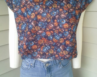 70's/80's half shirt/cropped/crop top/midriff