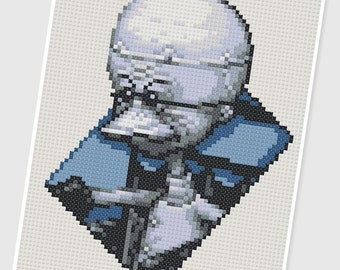 PDF Cross Stitch pattern - 0237.Dr Finkelstein ( Nightmare Before Christmas ) - INSTANT DOWNLOAD