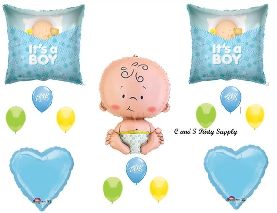 It 39 s a boy balloons decorations supplies baby shower for Baby boy shower decoration kits