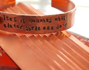 "Stamping Blanks 2 Copper Cuff bracelet blanks - in 14 gauge Copper 1/2"" x 6""  debured"