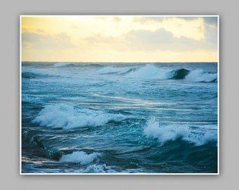 Washed Away at Sea.  Minimalist, Waves. Nature/Ocean Photography/Photograph Print. Fine Art Photography.