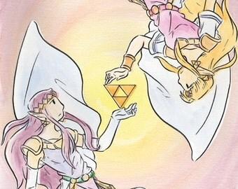 The Legend of Zelda: A Link Between Worlds Princess Zelda and Princess Hilda Print