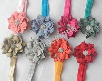 U Pick Wholesales Spike Flowers Headband Baby Headbands. Rhinestone Newborns Headbands. Girl's Headband YTH37