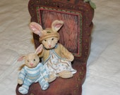 Little Rabbit bookend.  Perfect for a child's room.