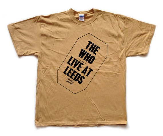 The who live at leeds screenprinted t shirt by teesertees for Printed t shirts leeds