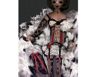 """16"""" Yvette Doll Pattern"""