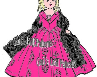 Queen Victoria Dress Pattern for Ginny Walker Doll