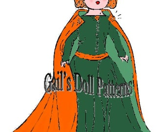 Queen Philippa of Hainault Dress Pattern to fit Ginny Walker Doll