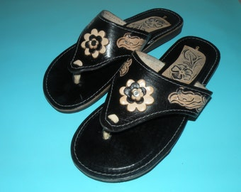 Women leather sandal