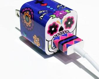 TechTattz Sugar Skull USB Charger Decal Skin Wrap Sticker