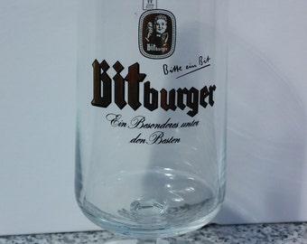 BITBURGER BEER -  vintage 0.2L beer glass ,germany ,einhar 51