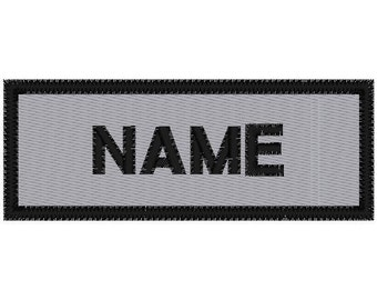 Custom Embroidered  REFLECTIVE Name  Patch