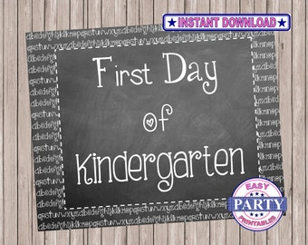 School signs Chalkboard, FIrst day of Kindergarten, Instant Download signs, prinable signs, last day of school, 16x20 or 8x10, capture child