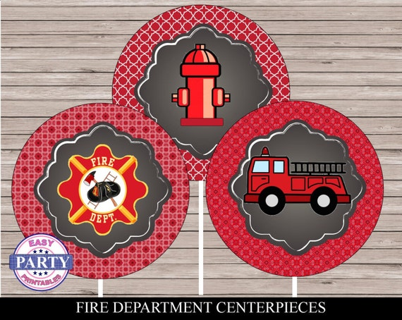 Items similar to fire department party centerpiece design