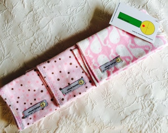 Baby Burp Cloths ~ Whale of a good time ~ Oliver Burps ~ set of 3 ~