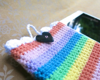 iPad Mini Sleeve // Crocheted Soft Grudge 90's Kindle Cozy // Nook and Samsung Cover